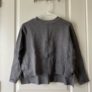 Zara grey mock neck sweater